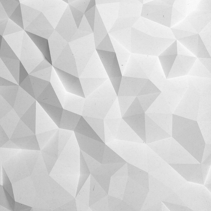 Abstract White Triangle 3d Geometric Paper Background Wall