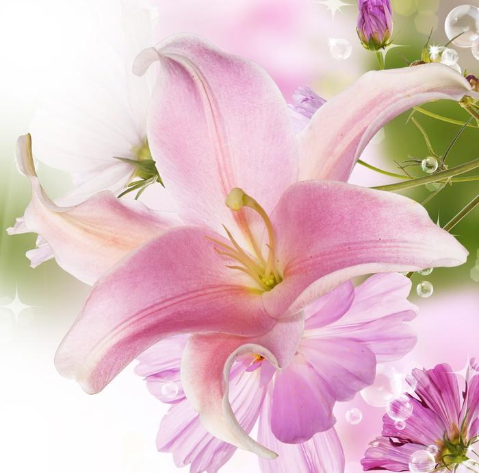 Vinylová Tapeta Lilie - Květiny