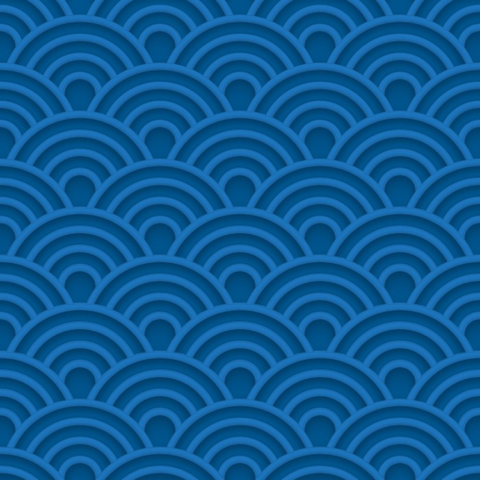 Vinylová Tapeta Modrá vlna 3d bezproblémové vzorek - Pozadí
