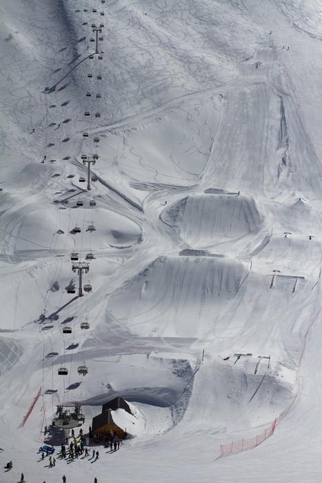Vinylová Tapeta Snow park v horském středisku - Situace v podnikání