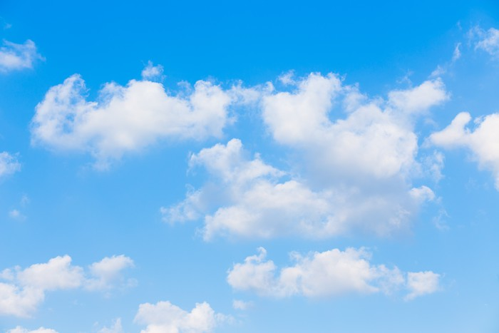 Clouds With Blue Sky Background Wall Mural Pixers 174 We