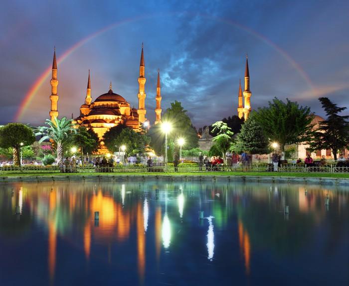 Vinylová Tapeta Istanbul s duhou - Modrá mešita, Turecko - Témata