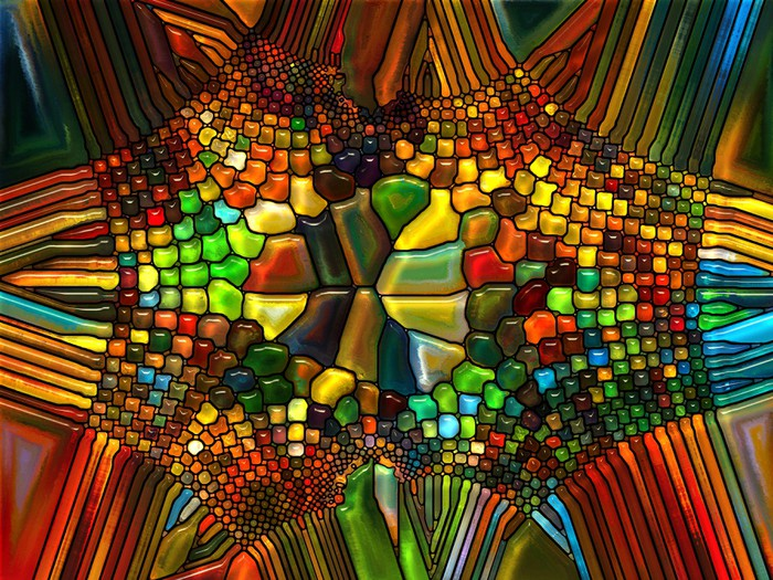 Illusion Of Stained Glass Wall Mural Pixers 174 We Live