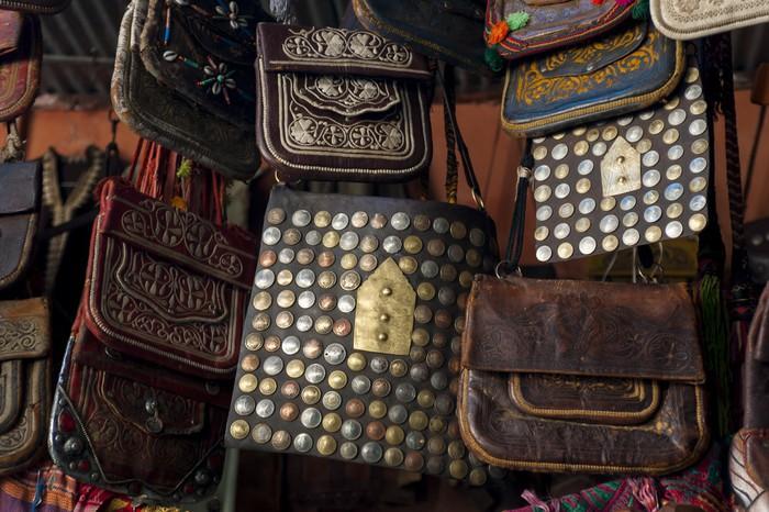Vinylová Tapeta Traditionelle Handtaschen in der Medina von Marrakesch - Afrika