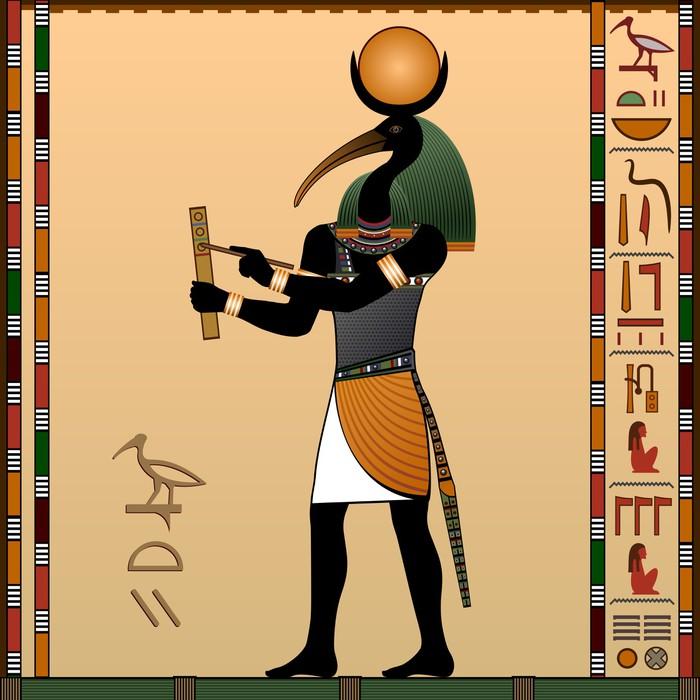 Vinylová Tapeta Thoth - starověký egyptský bůh moudrosti a poznání. - Struktury