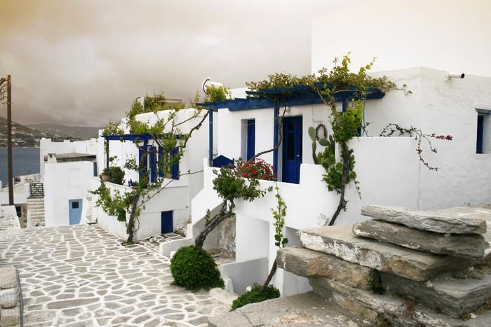 Vinylová Tapeta Řecký ostrov architektura - Evropa