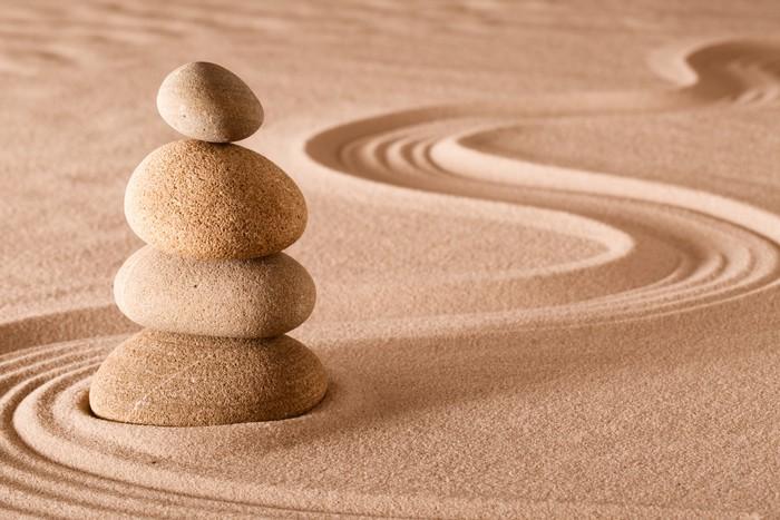 fotomural estndar piedras de equilibrio jardn zen religin - Piedras Zen