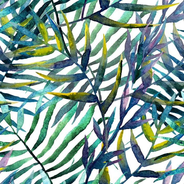 Nálepka Pixerstick Listy abstraktní vzor pozadí tapety akvarel - iStaging