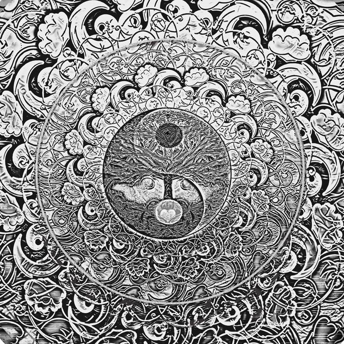 Carta da parati tree of life argento mandala pixers for Carta parati argento