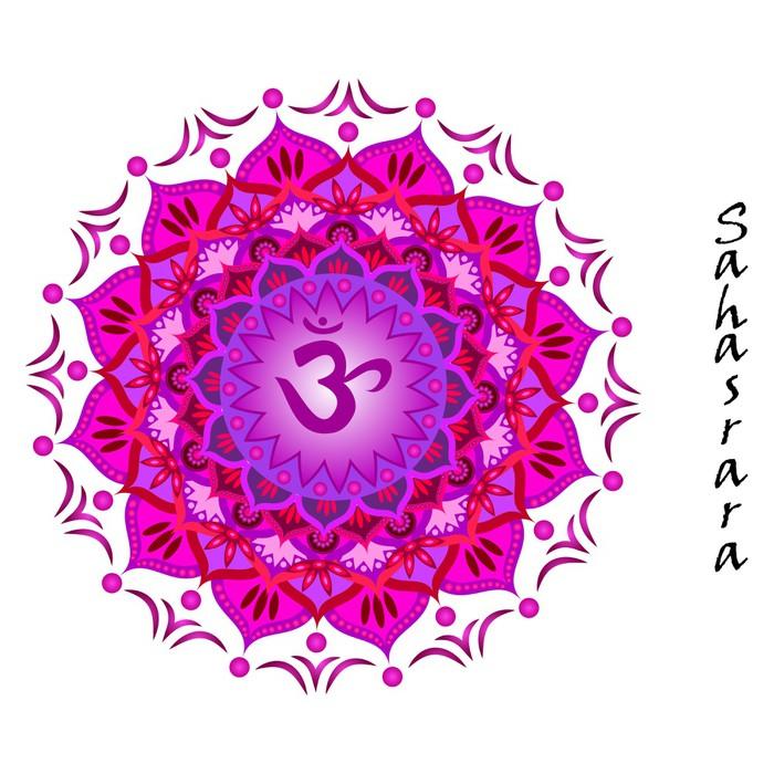 Lotus Flower Of Sahasrara Chakra Wall Mural Pixers We Live To