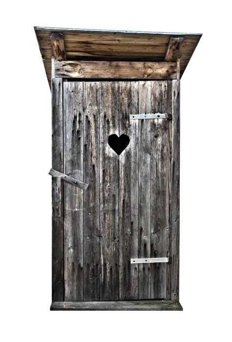 fototapete kleine toilette aus holz im freien isoliert auf wei hdr pixers wir leben um. Black Bedroom Furniture Sets. Home Design Ideas