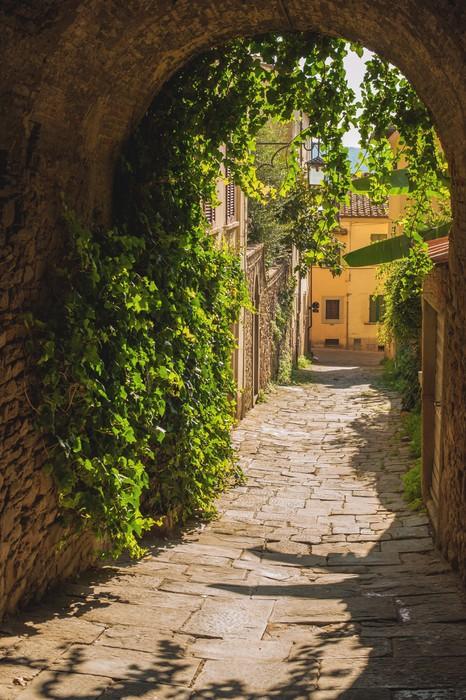 papier peint vieilles rues de verdure une ville toscane m di vale pixers nous vivons pour. Black Bedroom Furniture Sets. Home Design Ideas
