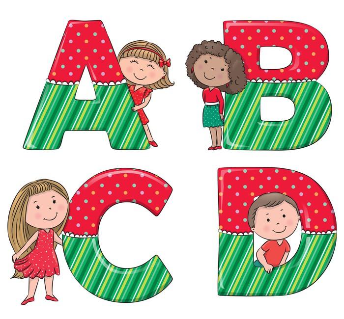 Vinylová Tapeta Abeceda děti ABCD - Témata