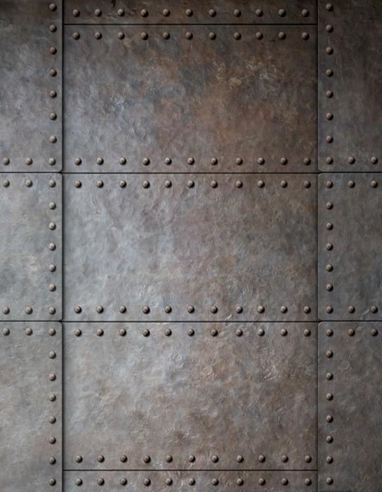 Papier Peint Acier Metal Armor Fond Avec Rivets Pixers