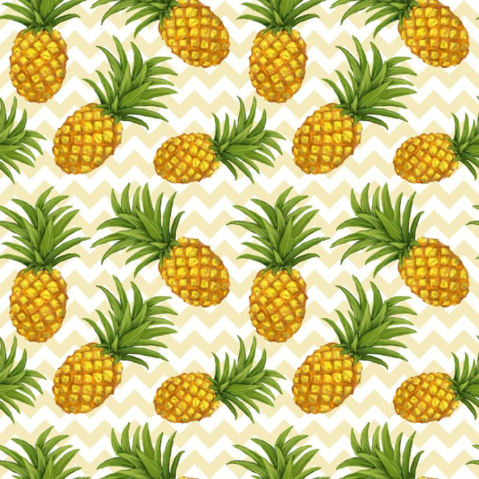 papier peint hand drawn seamless pattern l 39 ananas dans le vecteur pixers nous vivons pour. Black Bedroom Furniture Sets. Home Design Ideas