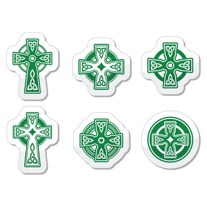 Irish Scottish Celtic Cross On White Vector Sign Wall Mural