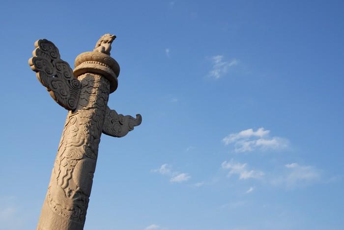Vinylová Tapeta Vyřezávané mramoru pilíř - Asie