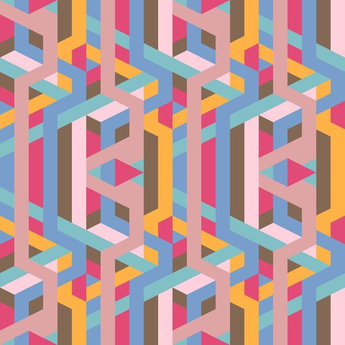 Vinylová Tapeta Abstraktní retro geometrický vzor ilustrace - Prvky podnikání