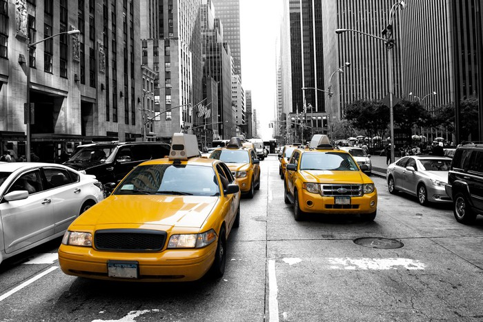 New York Taxi Wall Mural Pixers We live to change