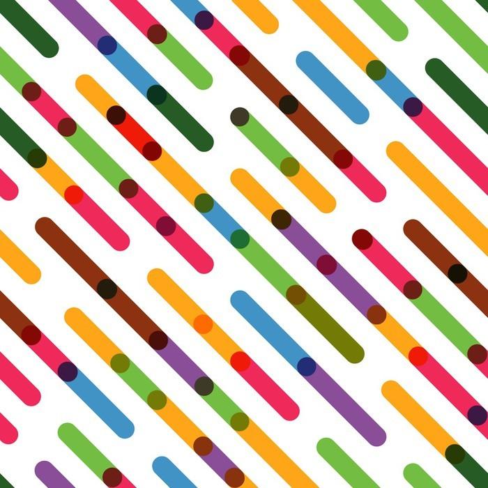 Vinylová Tapeta Ploché barevné diagonální čáry. Vektorové bezešvé vzor - Grafika