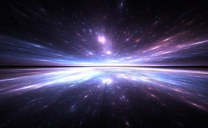 Vinylová Tapeta Čas warp pozadí, cestování ve vesmíru. - Meziplanetární prostor