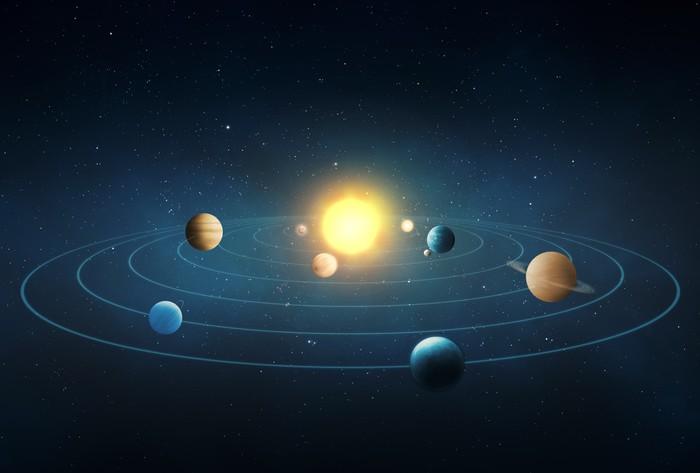 Fotomural solar system pixers vivimos para cambiar - Fotomurales pixel ...