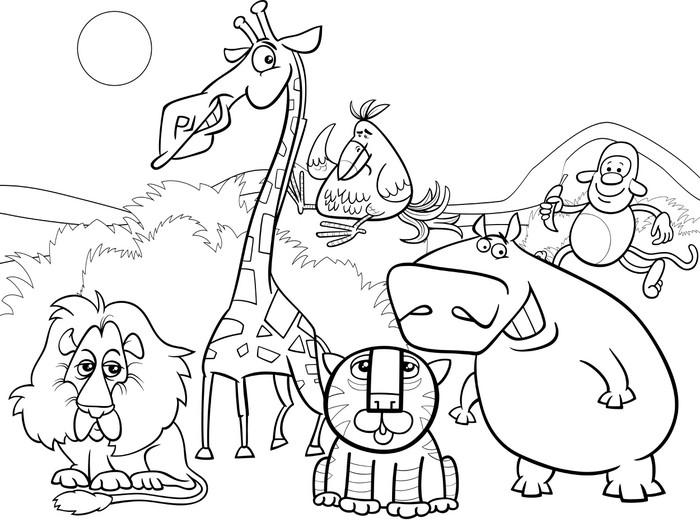 Vinilo para Mesa Lack Animales salvajes para colorear página del ...