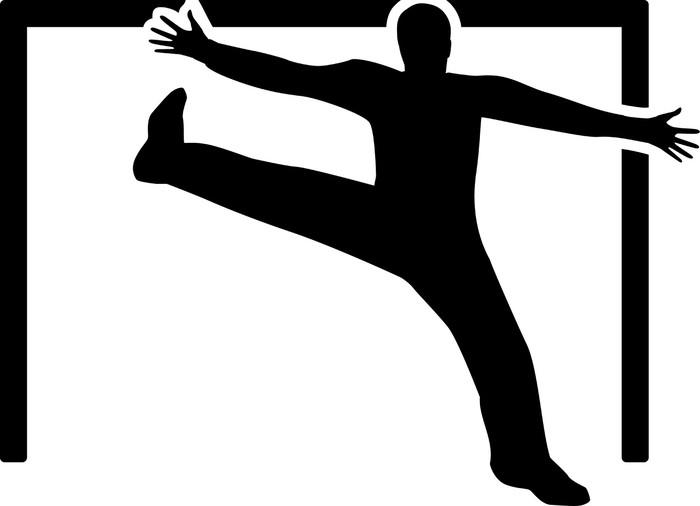 Aufkleber Handball Torhüter • Pixers®