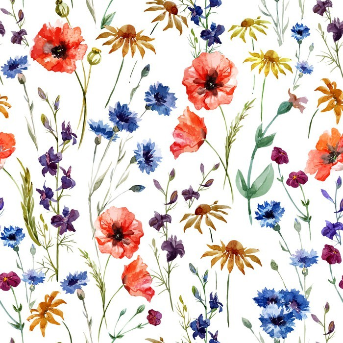 Wildflowers Wall Mural - Vinyl - Technology