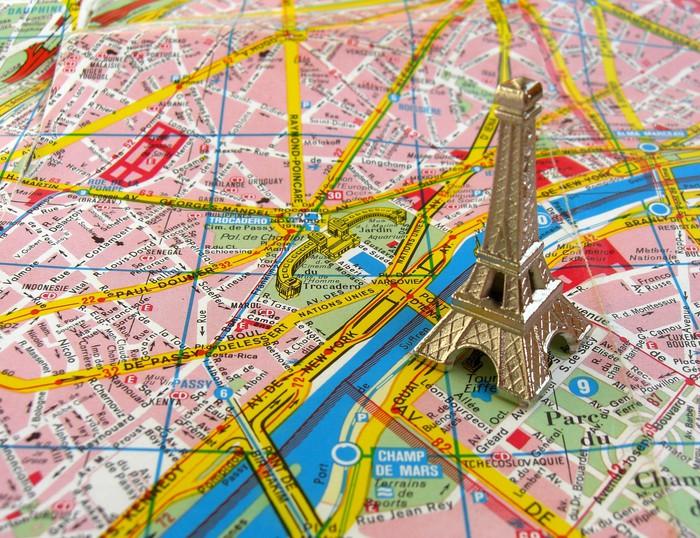 Carta da parati torre eiffel a parigi cartina pixers for Carta da parati cartina geografica