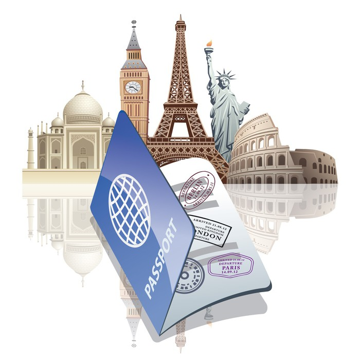 Tableau sur toile passeport et reperes o pixersr nous for Kitchen cabinets lowes with papiers pour passeport