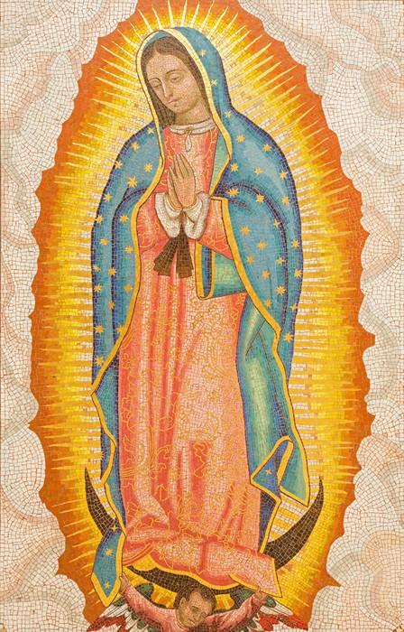Nálepka Pixerstick Jeruzalém - mozaika Panny Marie Guadalupské v Dormition opatství - iStaging