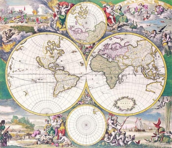 Vinylová Tapeta Antique mapu - Cestování
