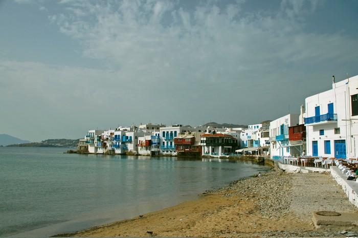 Vinylová Tapeta Pohled na pobřežní vesnice v řeckých ostrovech - Evropa