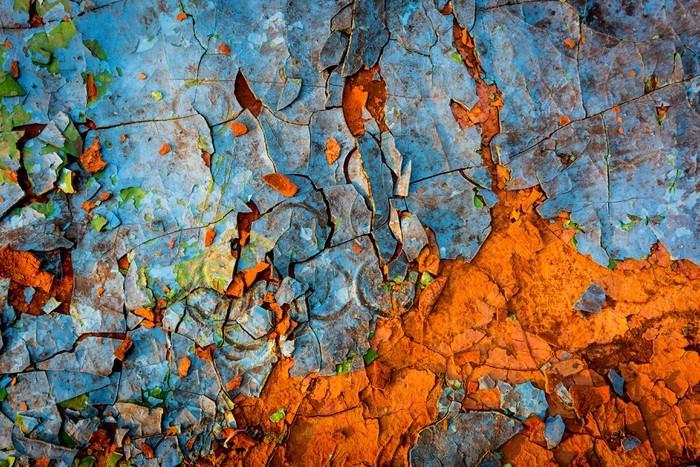 Vinylová Tapeta Staré malované stěny - Grafika