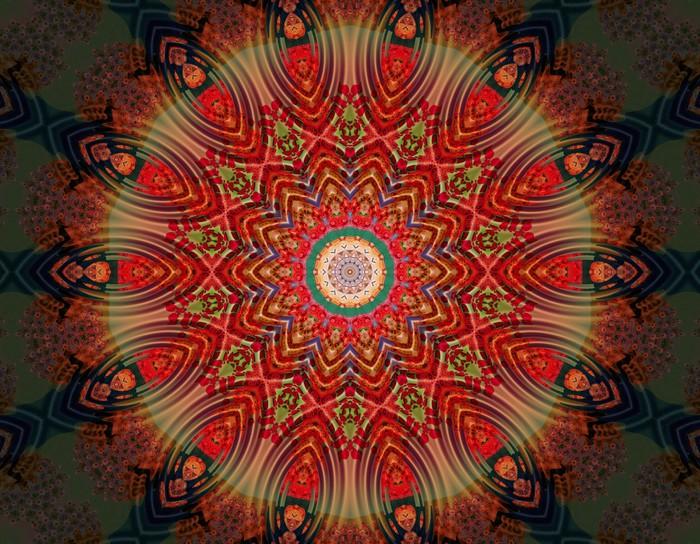 Meditation Mandala Vinyl Wall Mural