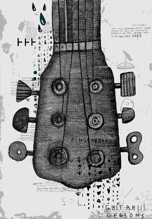 Гриф от гитары