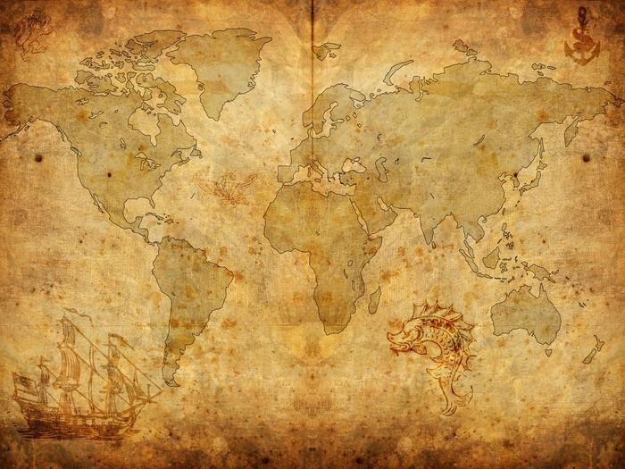 tableau sur toile pirat map pixers nous vivons pour changer. Black Bedroom Furniture Sets. Home Design Ideas