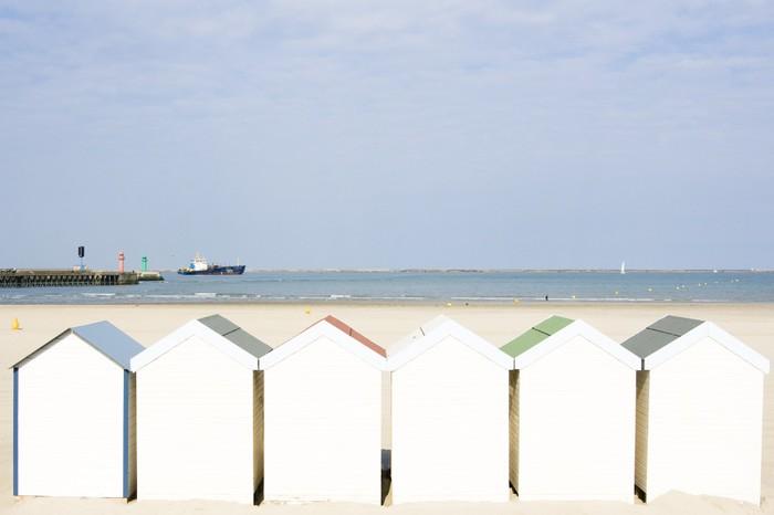 Tableau sur Toile Cabanes de plage - Eau
