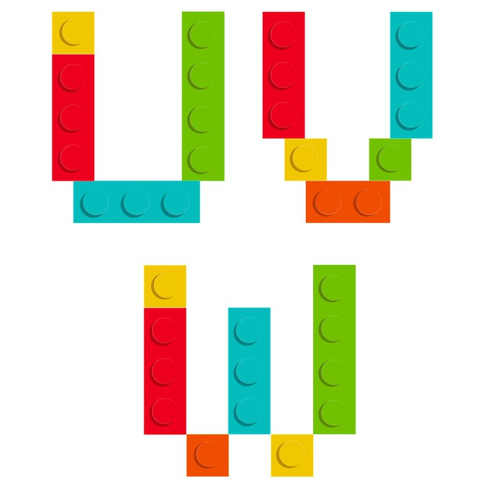 Vinylová Tapeta Abeceda souprava z Stavebnice cihelných bloků izolované iso - Témata