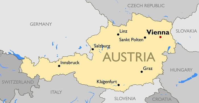 österrike karta Fototapet Österrike karta • Pixers®   Vi lever för förändring österrike karta