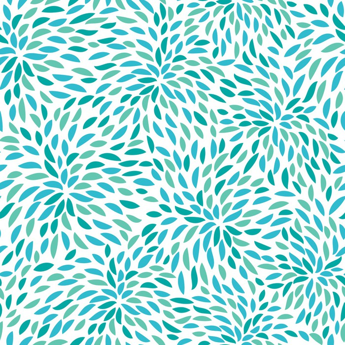 Vector flower pattern seamless floral background wall for Mural vector