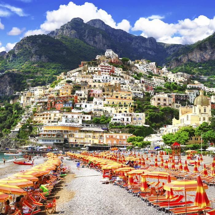 Vinylová Tapeta Positano - letní dovolená v Amalfi pobřeží Itálie - Evropa