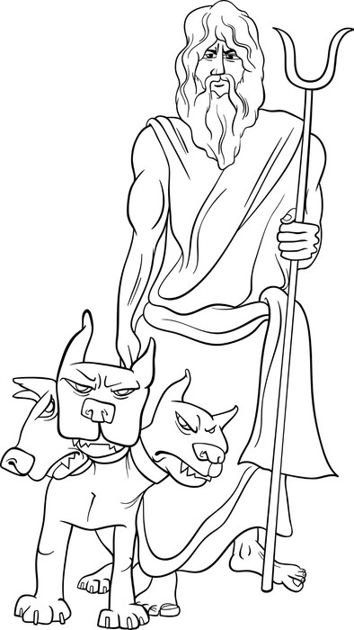 greek god hades coloring page Wall Mural Pixers We live to change