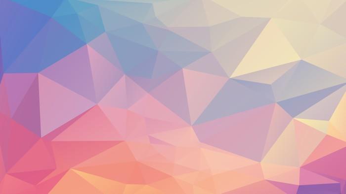Nálepka na Notebook Barevné polygon - Grafika