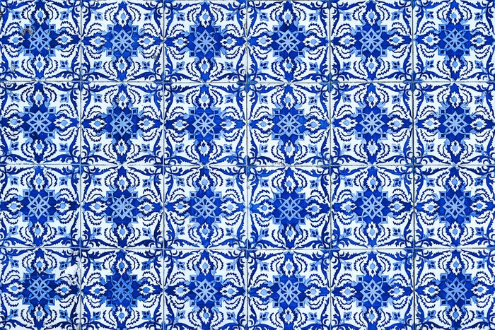 Azulejos traditional portuguese tiles vinyl wall mural themes