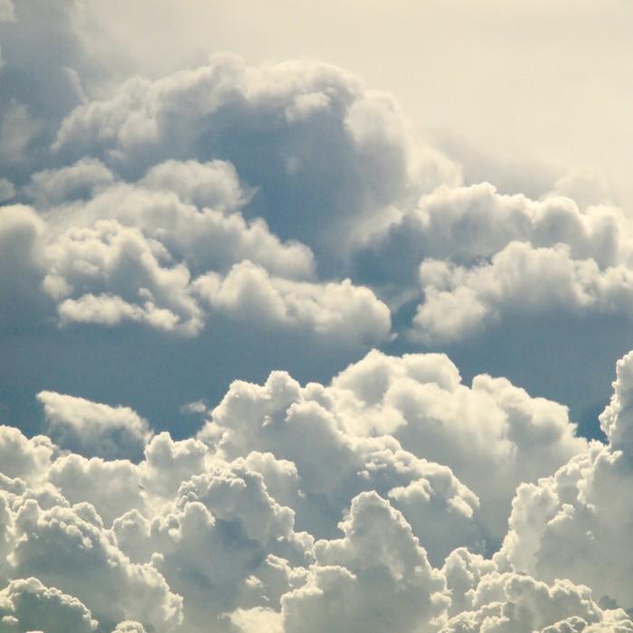 Tableau sur Toile Beau ciel bleu et nuages - iStaging