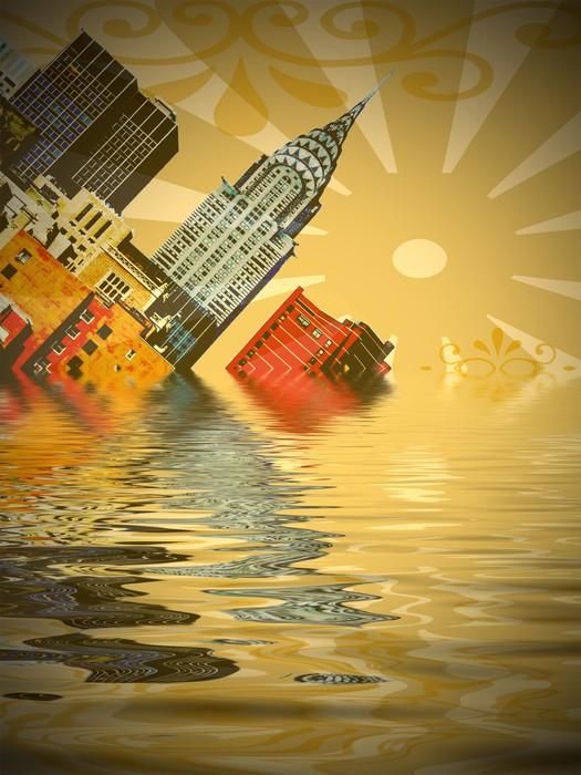 Vinylová Tapeta Sinking město - Americká města