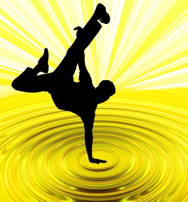 Vinylová Tapeta Breakdance tah - Individuální sporty