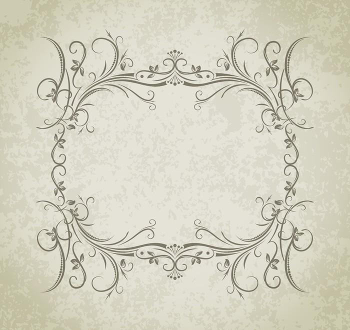 Vinilo Pixerstick Vector marco de la vendimia en el fondo del estilo ...